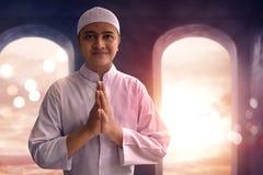 Sonrisa musulmán del hombre Imagen de archivo