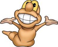 Sonrisa muy grande de Wormling 02 Fotografía de archivo libre de regalías