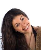 Sonrisa natural de la belleza Imágenes de archivo libres de regalías