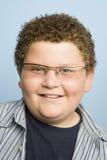Sonrisa obesa del adolescente Imagenes de archivo