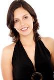 Sonrisa ocasional de la mujer Imagen de archivo libre de regalías
