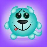 Sonrisa original del perro ilustración del vector