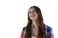 Sonrisa pensativa del adolescente Imágenes de archivo libres de regalías