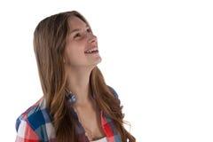 Sonrisa pensativa del adolescente Foto de archivo libre de regalías