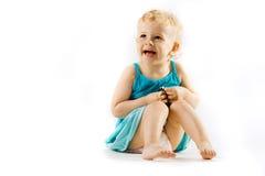 Sonrisa poco muchacha de la curación fotos de archivo