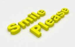 Sonrisa por favor Imagenes de archivo