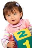 Sonrisa preescolar de la muchacha Imagenes de archivo