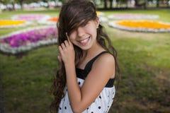 Sonrisa Primer de la felicidad del verano Imagen de archivo