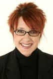 Sonrisa Red-headed de la mujer Imagen de archivo