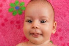 Sonrisa rosada Fotos de archivo