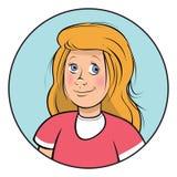 Sonrisa rubia de la muchacha Foto de archivo libre de regalías