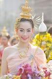 Sonrisa tailandesa de la señora Imagenes de archivo
