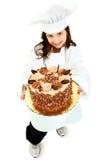Sonrisa uniforme del cocinero del niño Imágenes de archivo libres de regalías