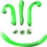Sonrisa verde foto de archivo