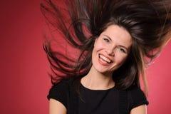 Sonrisa y adolescente joven feliz Imagen de archivo