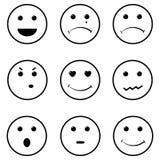 Sonrisas de la cara fijadas Foto de archivo