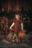 Sonrisas de la niña fotografía de archivo