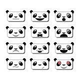 Sonrisas de la panda Imágenes de archivo libres de regalías
