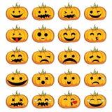 Sonrisas de las calabazas de Halloween Foto de archivo