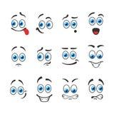 Sonrisas de las emociones ilustración del vector