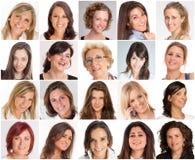 Sonrisas de las mujeres Foto de archivo libre de regalías