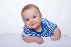 Sonrisas del bebé Fotografía de archivo
