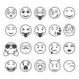 Sonrisas del círculo fijadas Imágenes de archivo libres de regalías