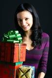 Sonrisas del día de fiesta Imagen de archivo libre de regalías
