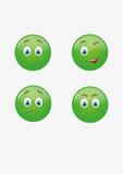 Sonrisas del verde Imagen de archivo libre de regalías