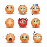 Sonrisas divertidas stock de ilustración