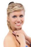 Sonrisas hermosas del blonde Fotos de archivo