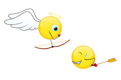 Sonrisas para el día de tarjeta del día de San Valentín Fotografía de archivo