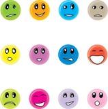 Sonrisas redondas Foto de archivo