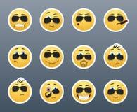 Sonrisas serias con las cerdas Foto de archivo libre de regalías
