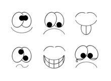Sonrisas simples stock de ilustración