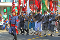 Sons of Confederate Veterans. At St Patrick Day Parade Royalty Free Stock Photography