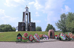 Sons of the Motherland monument, who died outside. Dedicated soldiers Afghans in Minsk royalty free stock photography