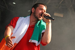 Sons Phonetic (rap band from Ireland) performs at FIB Stock Photo