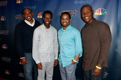 Sons of Serendip. NEW YORK-AUG 20: Musical group Sons of Serendip attend the backstage post-show red carpet for NBC's 'America's Got Talent' Season 9 at Radio Stock Images