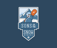 Sons of the snow Stock Images
