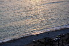Sonset στο Ειρηνικό Ωκεανό στοκ εικόνα με δικαίωμα ελεύθερης χρήσης