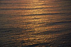 Sonset on the pacific ocean stock image