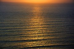 Sonset sull'oceano Pacifico fotografie stock