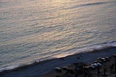 Sonset sur l'océan pacifique image libre de droits