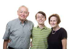 Sonson med morföräldrar Royaltyfria Foton