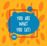 Sont le signe des textes vous montrant ce que vous mangez La photo conceptuelle font prendre un mode de vie sain soin de vos nour illustration libre de droits
