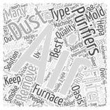 Sont les épurateurs d'air la solution à améliorer le fond d'intérieur de concept de nuage de mot de qualité de l'air Images stock