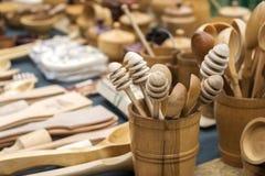 sont les produits en bois Photographie stock