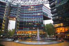 Sony Berlín de centro fotografía de archivo libre de regalías