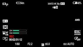 Sony Camera On Screen Display Overlays 16:9 aspect ratio
